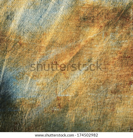 Scratched metal texture, grunge background