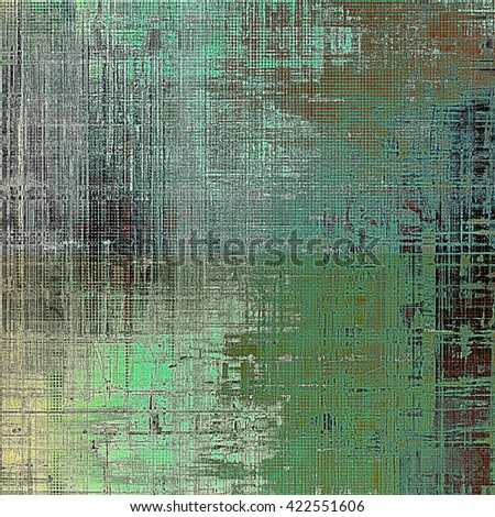 Scratched vintage colorful background, designed grunge texture. With different color patterns: brown; green; blue; gray; cyan - stock photo