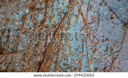 scratches stone - stock photo
