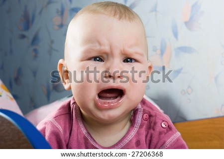 Screaming baby - stock photo