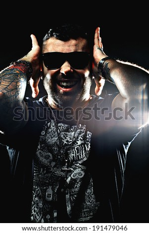 screaming man - stock photo