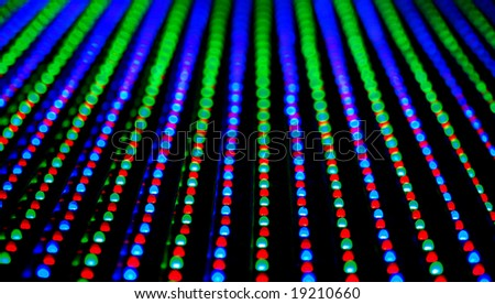 screen Led texture - stock photo