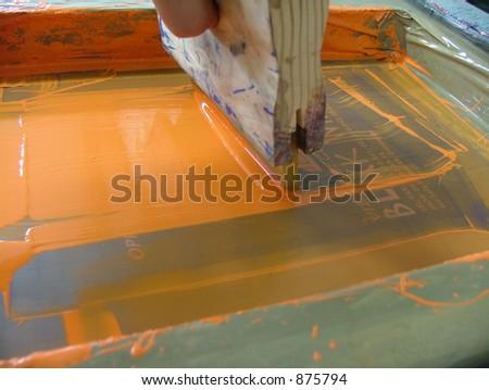 screen printing - stock photo