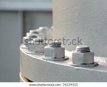 screw nuts closeup - stock photo
