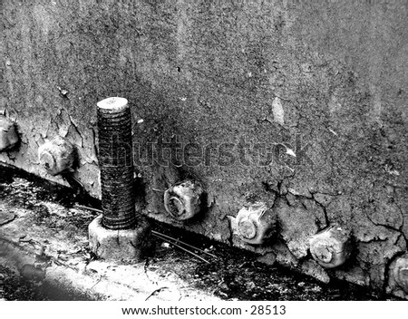 screw on a water tower - stock photo