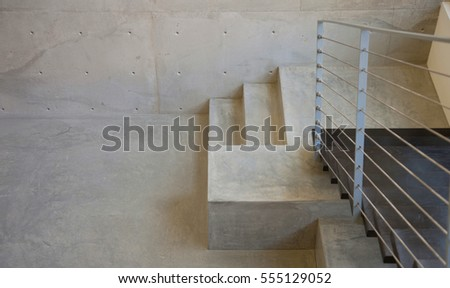Screw, wooden staircase in room. Modern architecture interior with elegant wooden stairs