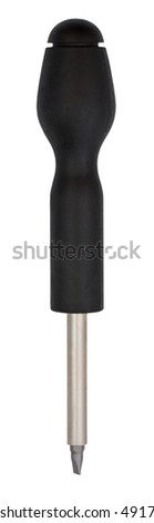 Screwdriver isolated on white background with clipping path