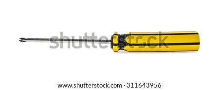 screwdriver on white background - stock photo