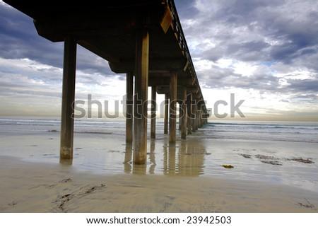 Scripps Pier - stock photo
