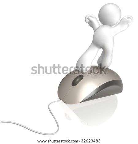 Scroll and ride the mouse - stock photo
