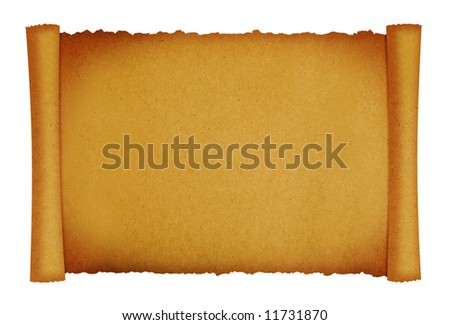 scroll paper texture background with space for designs
