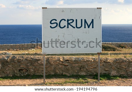 scrum - stock photo