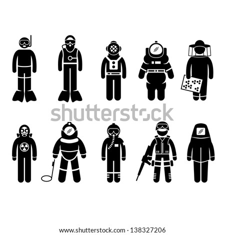 Stock Vector Factory Worker Engineer Manager Supervisor Working Stick Figure Pictogram Icon as well  on universal firefighter symbol