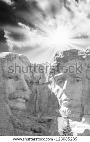 Sculptue of Mt Rushmore - USA