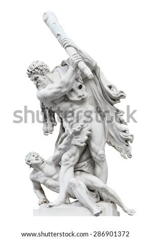 Sculptural Composition - Hercules abd Busiris. Hofburg. Vienna.Austria. - stock photo