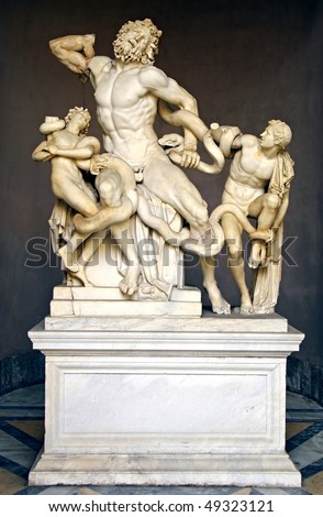 an analysis of the monumental statue laocoon and his two sons Laocoön and his sons laocoön in addition, facial expressions reveal fear and frustration as they battle the serpents and the two sons look to their father for aid and guidance in a time of conflict laocoon, by lessing.