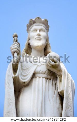 Sculpture of christian man. - stock photo
