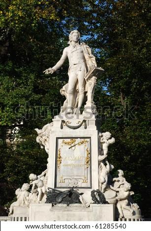 sculpture of Mozart in Vienna(Austria) - stock photo