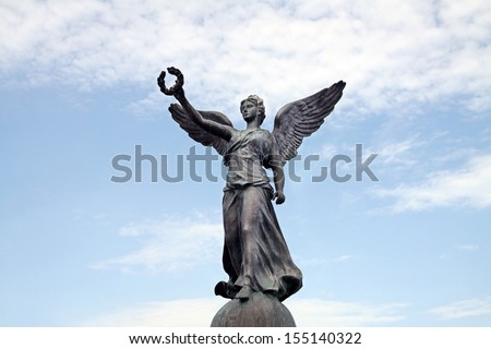 Sculpture of the ancient Greek goddess of victory Nike