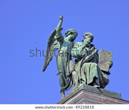 sculpture on the roof of the st.Isaac cathedral