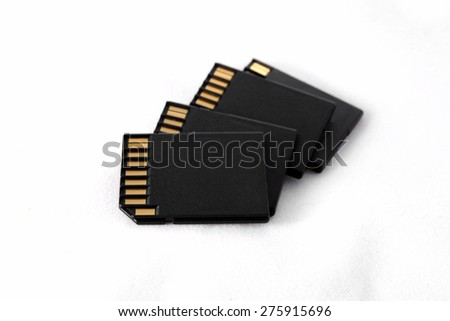 Sd Cards isolated on White Background.