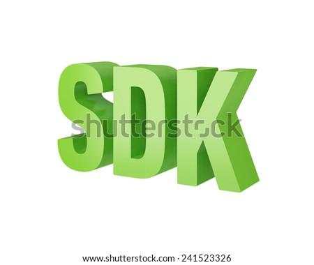 SDK 3d text - stock photo