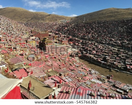 Se Da Buddhist Monastery and School in Sichuan Province, China.  Se Da is currently the largest Tibetan Buddhist school in the world and not open to westerners.