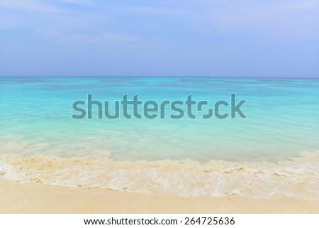 sea and blue sky - stock photo