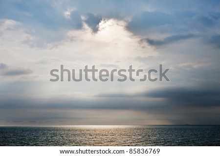 Sea and Cloud - stock photo