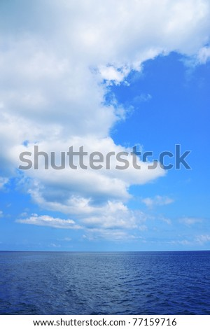 Sea and clouds sky.