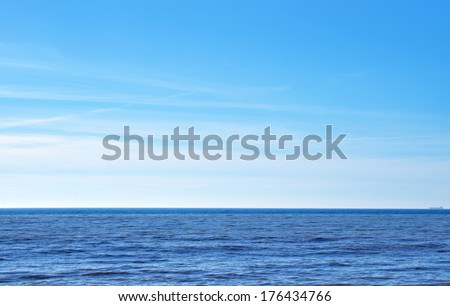 sea and sky - stock photo