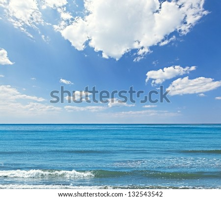 Sea and sky background - stock photo