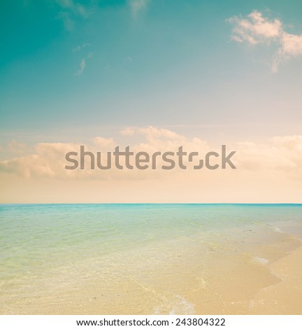 sea and sky , Filter vintage background. - stock photo