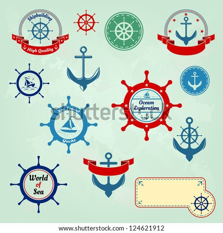 sea badges and labels logo
