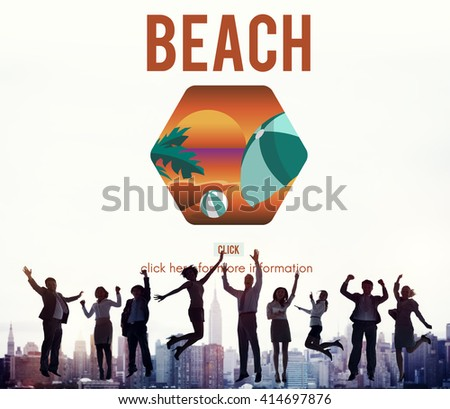 Sea Beach Rest Relax Holidays Concept - stock photo