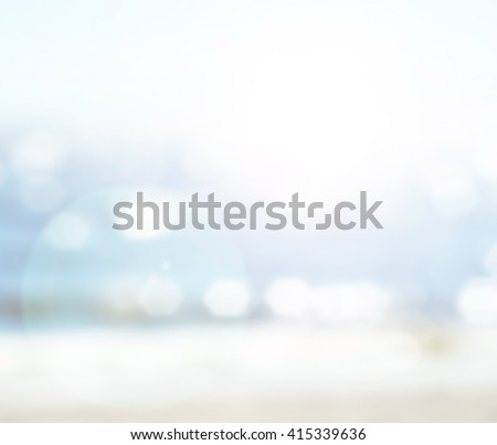 Sea bokeh blur background Beach Relieved Table Summer Window Porch Veranda View Blurred Itinerary blue day sand surf clear soft sun pier lake dock new old year cold tree sky wood wave deck desk xmas - stock photo
