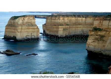 Sea Cliffs in Australia - stock photo