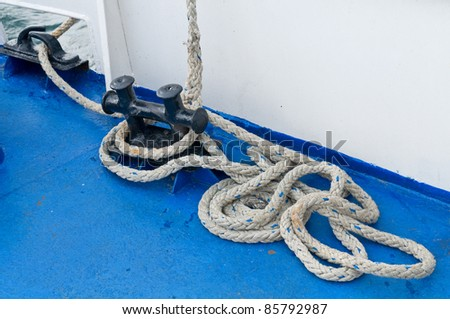 Sea-craft detail. - stock photo