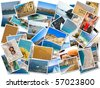 Sea holiday postcards - stock photo