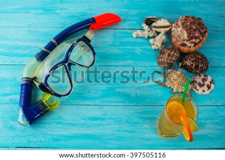 Sea holidays background. Water sport. Sea vacation. Sea holidays. Free diving. Freediving - stock photo