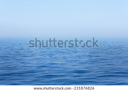 sea horizon - stock photo