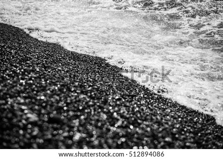 Sea in black and white