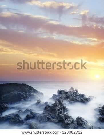 Sea in Crimea - stock photo
