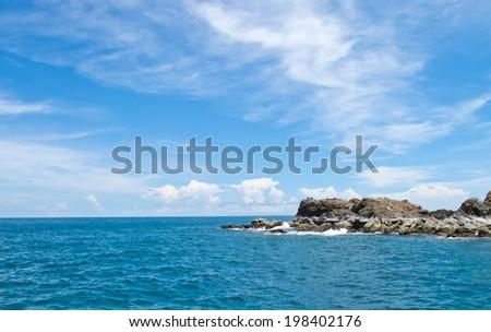 Sea island - stock photo