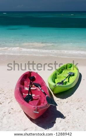 Sea, Kayaks - stock photo