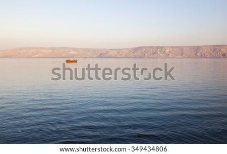 Sea (lake) of Galilee. Lower Galilee. Israel.  - stock photo