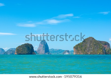 Sea Landscape in Thailand - stock photo