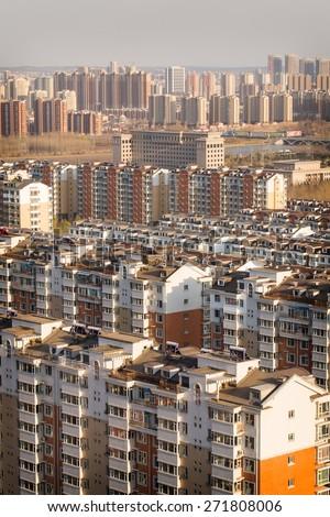 Sea of Buildings - stock photo