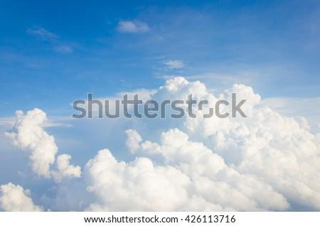 Sea of cloud.Cloud sea in sky. - stock photo
