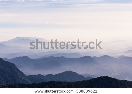 sea of clouds over Emei Mountain in Sichuan province, China